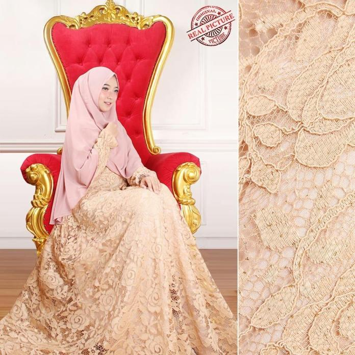 Musim HIjab Store Restock Gamis Syari Brukat Gliter TM Gamis+Khimar Fashion Hijab Masa Kini Modern