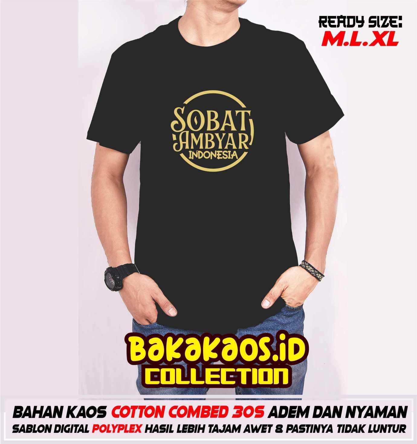 Bakakaos Id T Shirt Kaos Sobat Ambyar Indonesia Lazada Indonesia