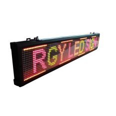 Running Text LED Display Outdoor 3 Warna 96x16 - Merah Hijau Kuning