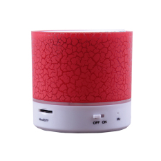 X-One Mini LED Bluetooth Speaker A9 Cracked Colour Edition - Merah