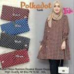 Baju Tunik Atasan Muslim Wanita Motif Polkadot Terbaru Lazada Indonesia
