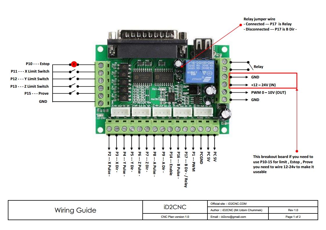 cnc router wiring diagram commando remote start  id2cnc