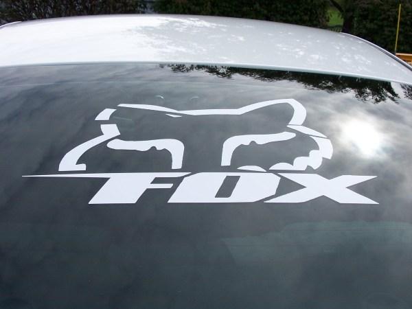 Fox Racing Peek Boo Head Decal