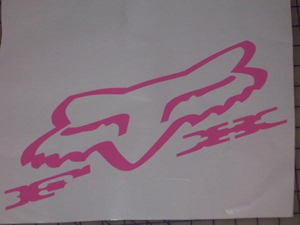 Cowboy Font Fox Racing Head Decal