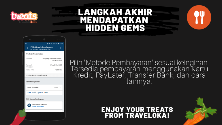 CARA MENDAPATKAN HIDDEN GEMS DI TREAT BY TRAVELOKA EAT