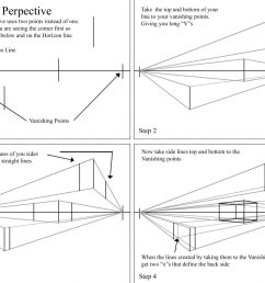 step by step how to draw boxes in perspective [ 1024 x 780 Pixel ]