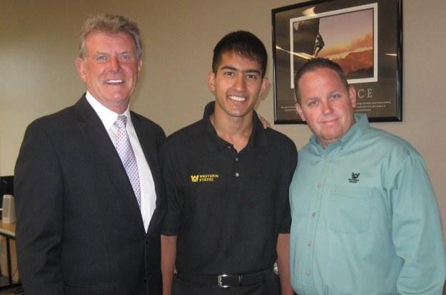 Idaho Gov. Butch Otter, Samim Mohammad Aziz and Neal Elliott