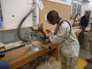 Idaho Youth ChalleNGe Academy cadets working