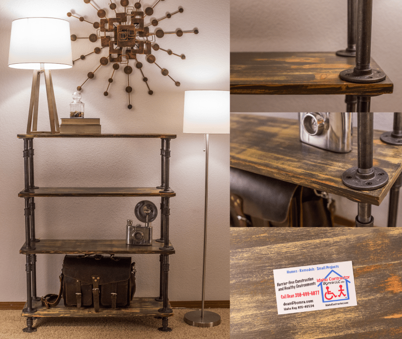 Pipe Shelves Add Beauty to Your Home