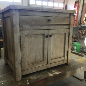 shiplap end table front