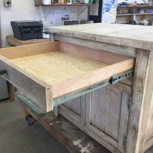 shiplap end table drawer