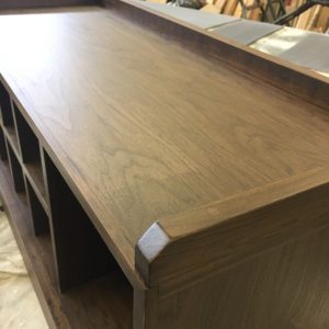 black walnut entry bench top