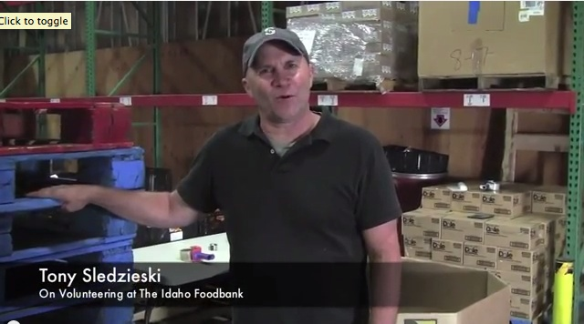 Tony Sledzieski - Idaho Foodbank Volunteer
