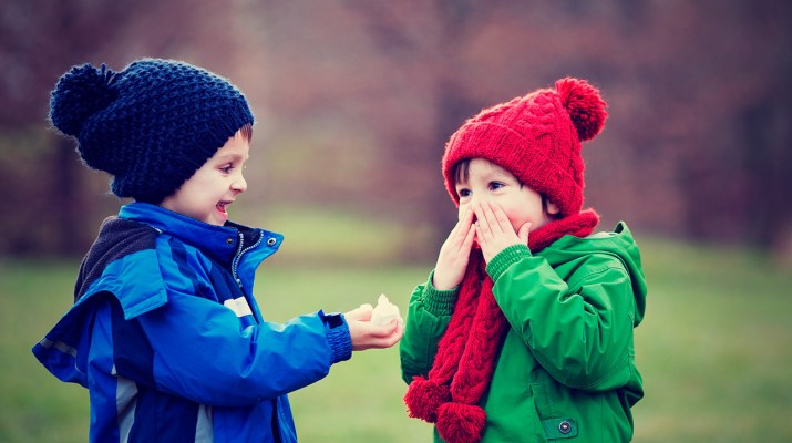 Kids with winter colds