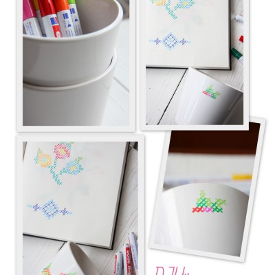 DIY: cross stitch decoration