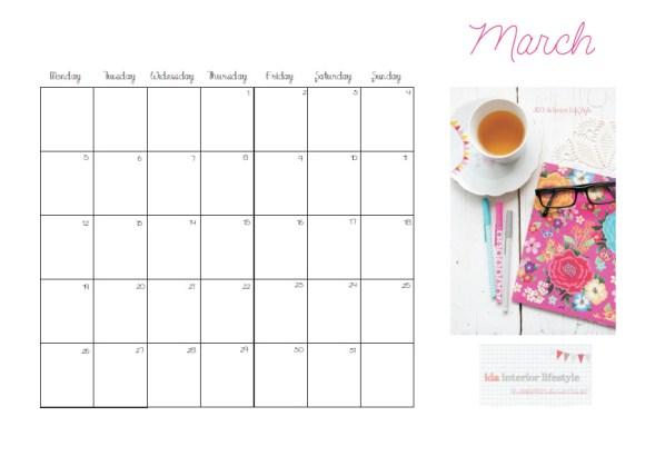 March planner