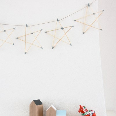 DIY: stars garland {and new diy page!}