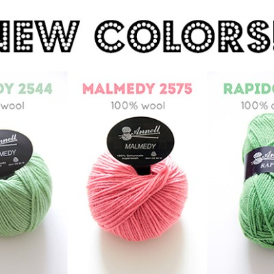Three new colors for IDA yarn shop