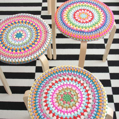 Four crochet covers for a girls room