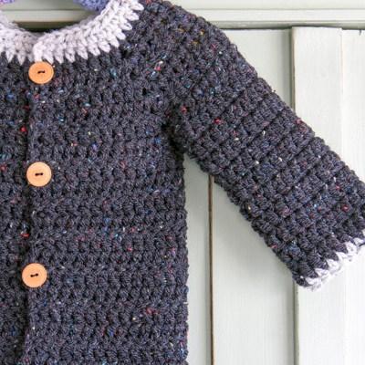 Spring crochet cardi for Enea