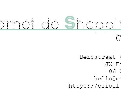Carnet de shopping: Crioll