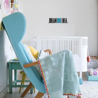 """Crochet filet baby blanket """"Dream big baby"""""""