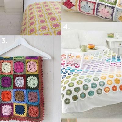 6 crochet blankets