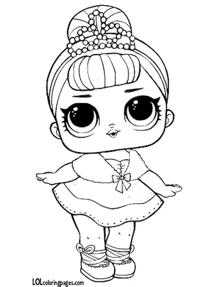 куклы лол раскраска Хрустальная королева 1 серия