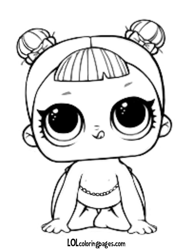 Раскраска Малышка ЛОЛ 1 серия