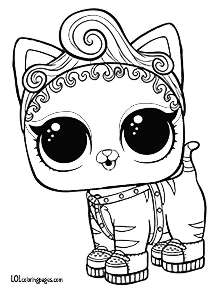 ЛОЛ раскраска котенок