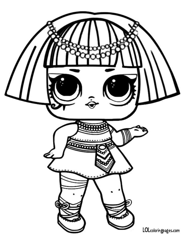 Раскраски ЛОЛ 3 Фараон Pharaon