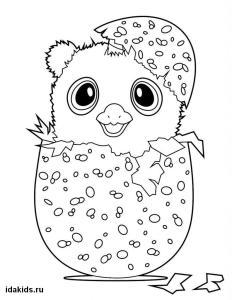 Раскраска Хетчималс распечатать Яйцо с сюрпризом