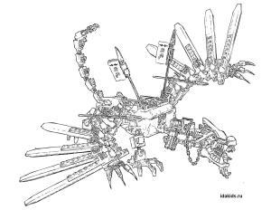 Раскраска Ниндзяго Лего Драконы Мастера созидания