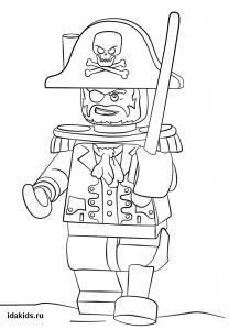 Раскраска Ниндзяго Лего Пираты страшные