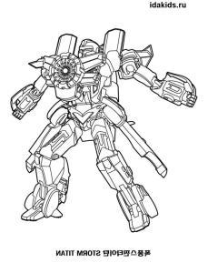 Раскраска Тоботы Тритан и Титан
