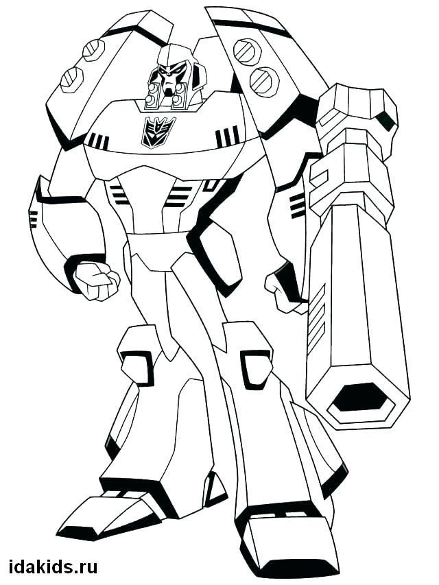 Раскраска Трансформеры Бамблби для мальчиков