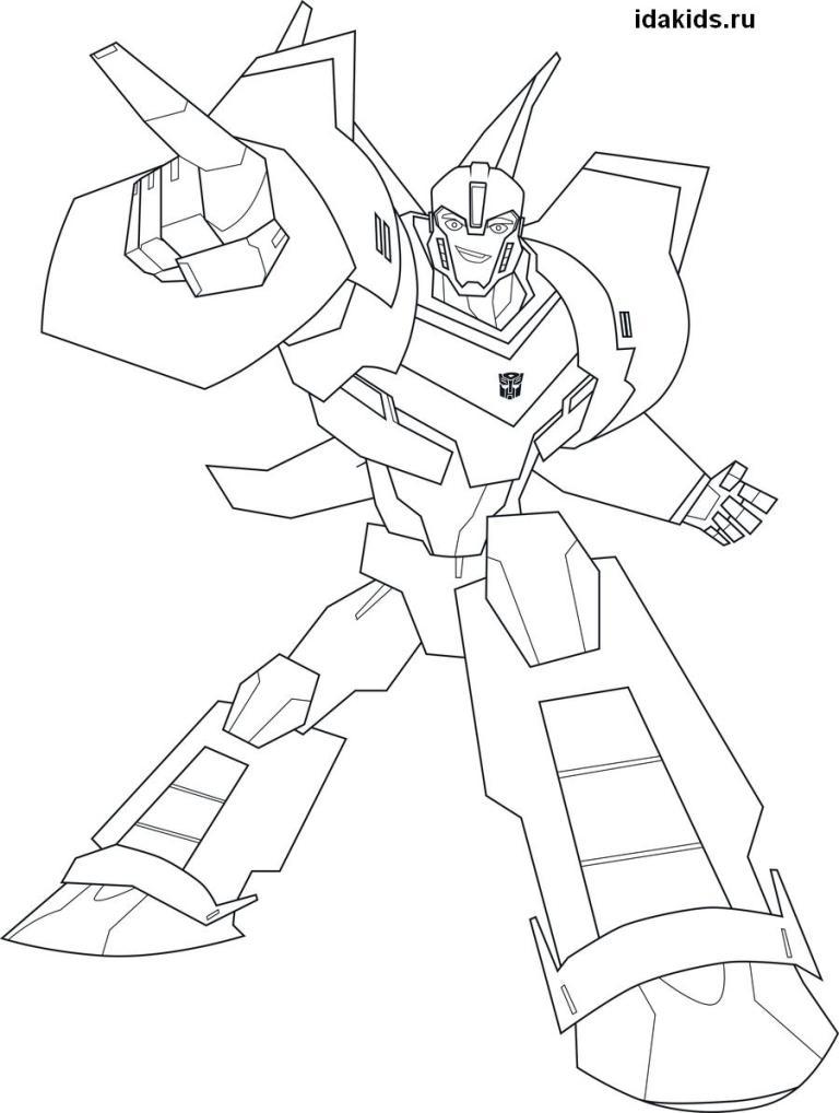 Раскраска Трансформеры Роботы под прикрытием
