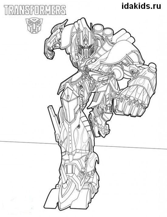 Раскраска Трансформеры Последний рыцарь