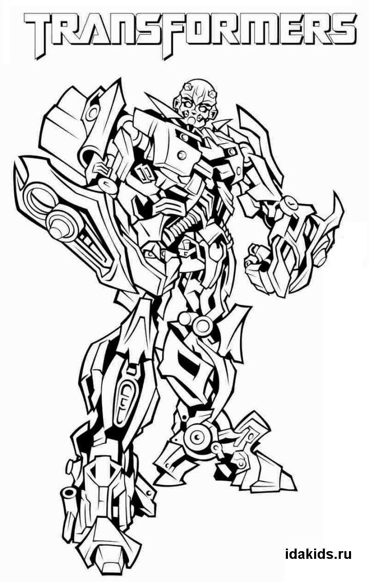Раскраска Трансформеры Последний рыцарь Бамблби