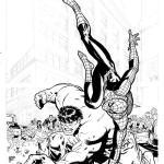 Раскраски Человек паук и Халк
