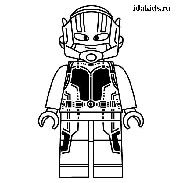 Раскраски Человек Муравей Лего