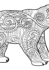 Bears - Free printable Coloring pages for kids0