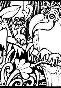Birds - Free printable Coloring pages for kids5