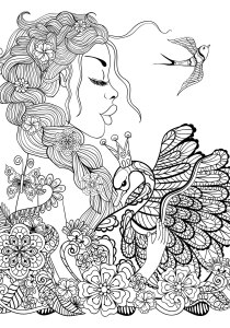 Birds - Free printable Coloring pages for kids1