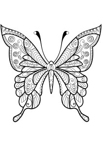 Butterflies - Free printable Coloring pages for kids7