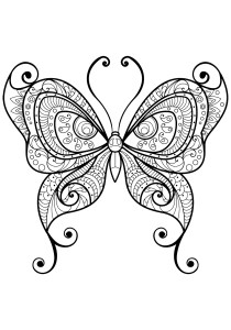 Butterflies - Free printable Coloring pages for kids13
