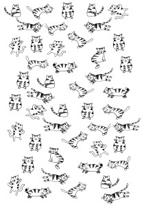 Cats - Free printable Coloring pages for kids19
