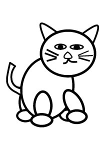 Cats - Free printable Coloring pages for kids7