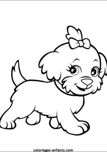 Dogs - Free printable Coloring pages for kids14