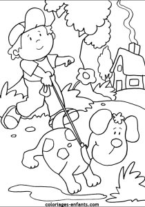 Dogs - Free printable Coloring pages for kids13